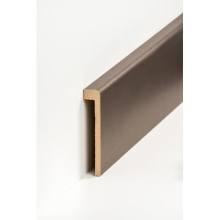 Design Abdeckleiste für Fliesensockel 19 x 96 mm Bronze Optik